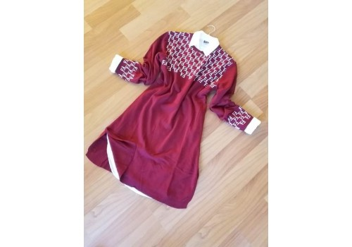 Toptan Triko Tunik 1277-1-Bordo